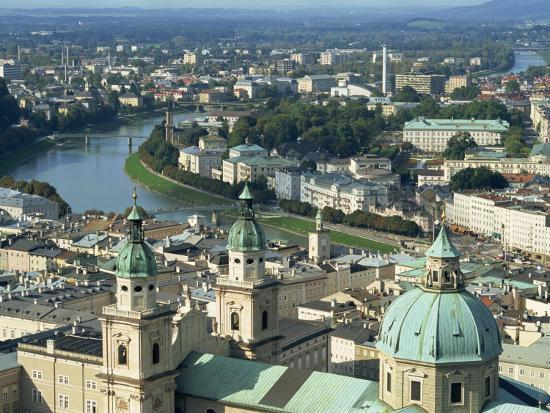 City View from the Fortress, Salzburg, Austria, Europe-Jean Brooks-Photographic Print