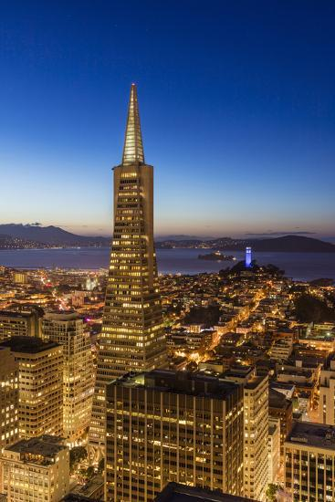City View from the High Up, San Francisco, California, Usa-Chuck Haney-Photographic Print