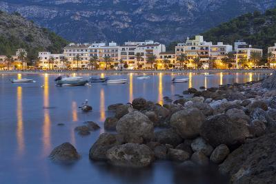 City View of Port De S?ller, Evening, Majorca, Spain-Rainer Mirau-Photographic Print
