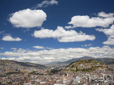 City View with El Panecillo, Quito, Ecuador-Brent Bergherm-Photographic Print