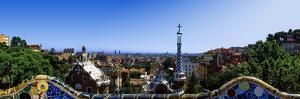 City Viewed from Park Guell, Barcelona, Catalonia, Spain
