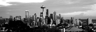 City Viewed from Queen Anne Hill, Space Needle, Seattle, King County, Washington State, USA--Photographic Print