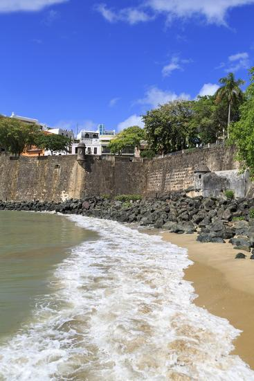 City Walls in Old San Juan, Puerto Rico, West Indies, Caribbean, Central America-Richard Cummins-Photographic Print