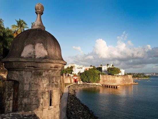 City Walls, Old San Juan, Puerto Rico-George Oze-Photographic Print
