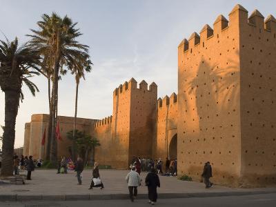 City Walls Surrounding the Medina, Rabat, Morocco, North Africa, Africa-Graham Lawrence-Photographic Print