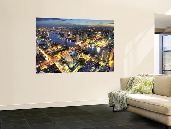 Cityscape at Dusk, Bangkok, Thailand--Giant Art Print