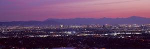 Cityscape at Sunset, Phoenix, Maricopa County, Arizona, USA 2010