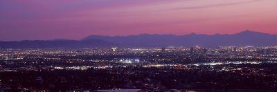 Cityscape at Sunset, Phoenix, Maricopa County, Arizona, USA 2010--Photographic Print