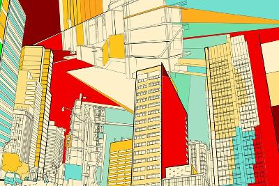 Cityscape Collage-Maxim L-Art Print