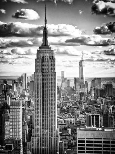 Cityscape, Empire State Building and One World Trade Center, Manhattan, NYC-Philippe Hugonnard-Photographic Print