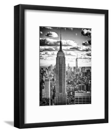 Cityscape, Empire State Building and One World Trade Center, Manhattan, NYC-Philippe Hugonnard-Framed Premium Photographic Print