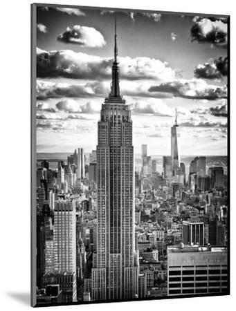 Cityscape, Empire State Building and One World Trade Center, Manhattan, NYC-Philippe Hugonnard-Mounted Premium Photographic Print