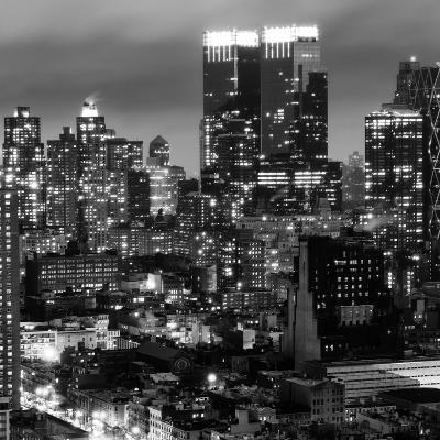 Cityscape Manhattan by Night-Philippe Hugonnard-Photographic Print