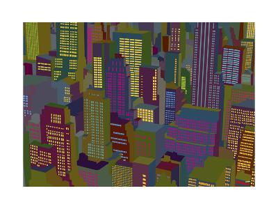 Cityscape Night-Yoni Alter-Giclee Print