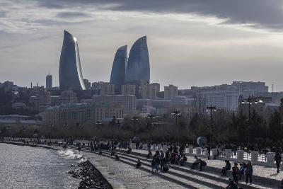 Cityscape of Baku on the Caspian Sea-Will Van Overbeek-Photographic Print