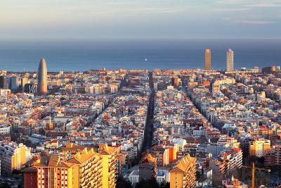 Cityscape of Barcelona, Spain-TTstudio-Photographic Print