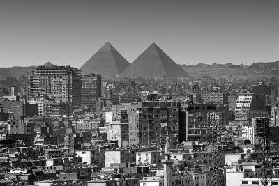 Cityscape of Cairo, Pyramids, Egypt-Anik Messier-Photographic Print