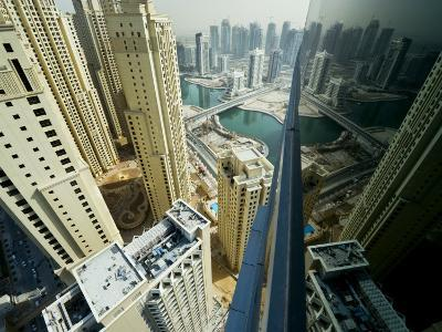 Cityscape of High Rises and Waterways in Downtown Dubai-Mattias Klum-Photographic Print
