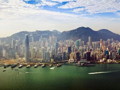 Cityscape of Hong Kong Island and Victoria Harbour, Hong Kong, China, Asia-Amanda Hall-Photographic Print