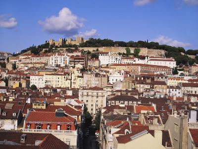 Cityscape of Lisbon and Castelo De Sao Jorge, Portugal-Jeremy Lightfoot-Photographic Print