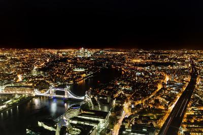 Cityscape of London at Night-Circumnavigation-Photographic Print