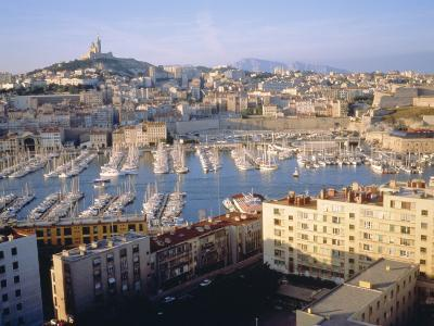 Cityscape of the Port of Marseille, France-Sylvain Grandadam-Photographic Print