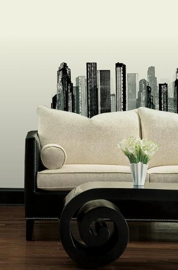 Cityscape Peel & Stick Giant Wall Decal--Wall Decal