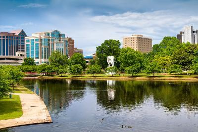 Cityscape Scene of Downtown Huntsville Alabama from Big Spring Park-Rob Hainer-Photographic Print