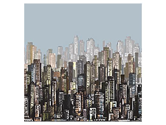 Cityscape Skyscrapers & Sky--Art Print