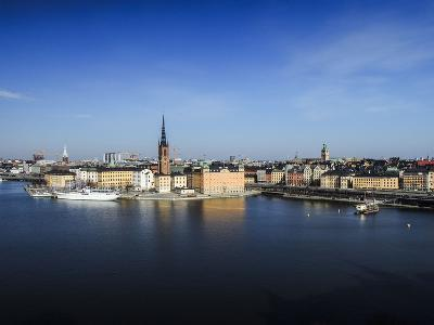 Cityscape, Stockholm, View on Districts Riddarholmen, Gamla Stan and Kungsholmen-Frina-Photographic Print