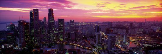 Cityscape, Sunset, Singapore--Photographic Print