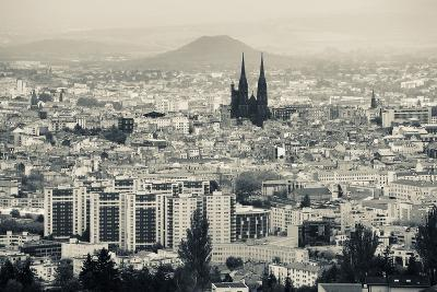 Cityscape with Cathedrale Notre-Dame-De-L'Assomption in the Background, Clermont-Ferrand--Photographic Print