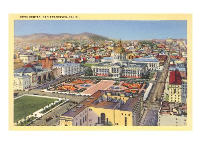 Civic Center Downtown, San Francisco, California--Art Print