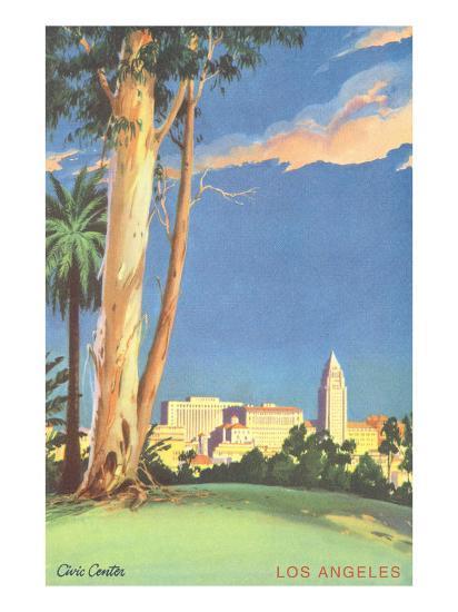 Civic Center, Eucalyptus, Los Angeles, California--Art Print