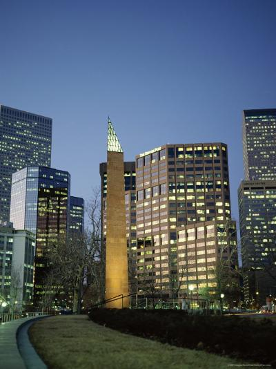 Civic Center Plaza Skyscrapers in the Evening, Denver, Colorado, USA-Christopher Rennie-Photographic Print