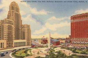 Civic Center, Statler Hotel, Buffalo