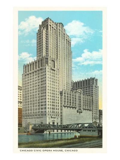 Civic Opera House, Chicago, Illinois--Art Print
