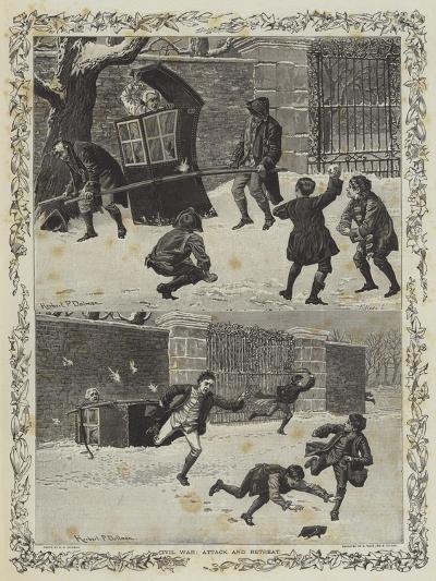 Civil War, Attack and Retreat--Giclee Print
