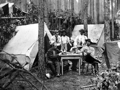 Civil War: Card Game, 1864--Photographic Print