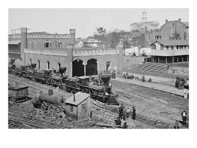 Civil War Depot--Art Print