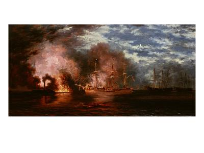 Civil War Engagement, 1865-Xanthus Russell Smith-Giclee Print