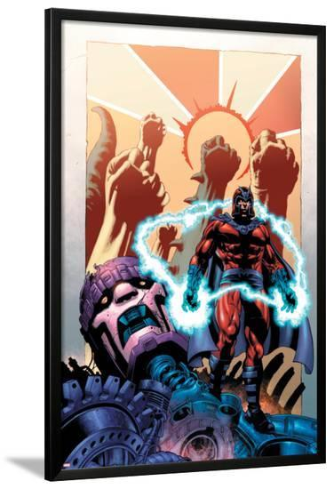 Civil War: House Of M No.1 Cover: Magneto and Sentinel-Mike Perkins-Lamina Framed Poster