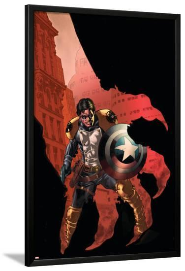 Civil War: House Of M No.3 Cover: Bucky-Mike Perkins-Lamina Framed Poster
