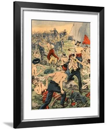 Civil War in Colombia, Illustration from French Newspaper Le Petit Journal October 19, 1902--Framed Giclee Print