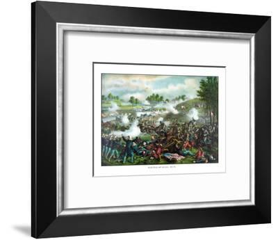 Civil War Painting of Union And Confederate Troops Fighting at the Battle of Bull Run-Stocktrek Images-Framed Photographic Print