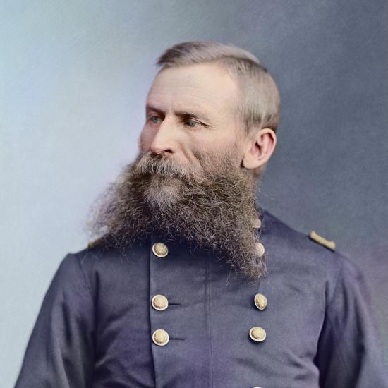 Civil War Portrait of General George Crook-Stocktrek Images-Photographic Print