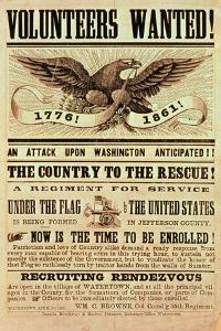 Civil War Recruiting Poster, 1861 (Print)