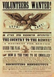 Civil War Recruiting Poster, 1861 (Print)
