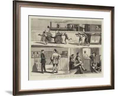 Civilisation in Japan, Sketches on the Yokohama Railway--Framed Giclee Print