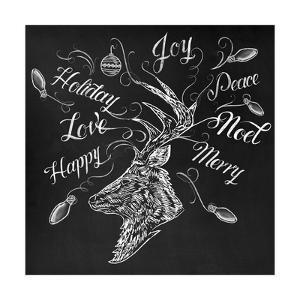 Christmas Reindeer Wrap by CJ Hughes